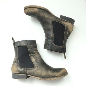 Matisse Gent Distressed Leather Chelsea Boots Sz 8
